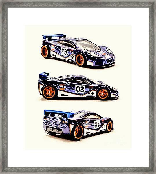 Mclaren F1 Gtr Framed Print