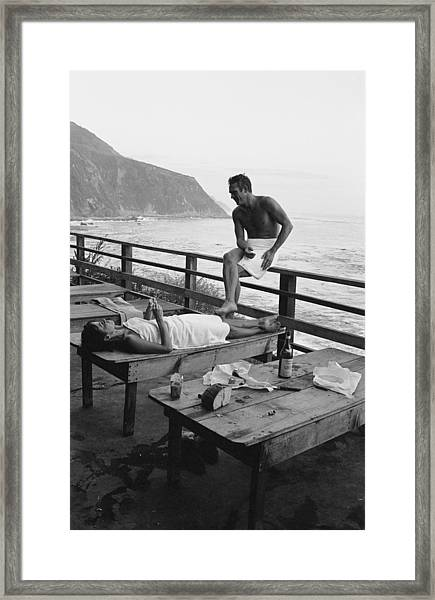 Mcqueen & Adams Relax In Big Sur Framed Print