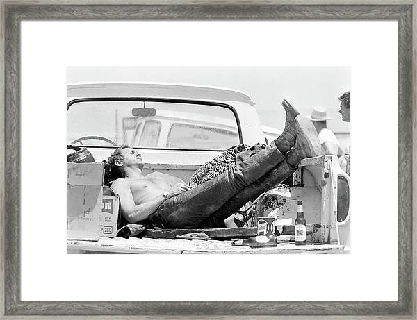 Mcqueen Asleep In Pickup Framed Print