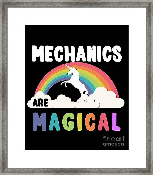 Framed Print featuring the digital art Mechanics Are Magical by Flippin Sweet Gear