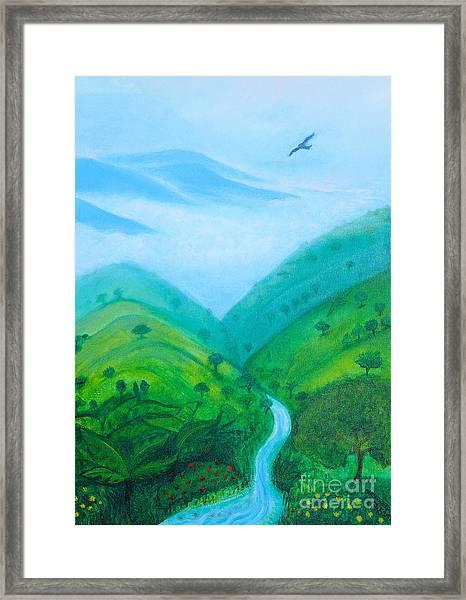 Medellin Natural Framed Print
