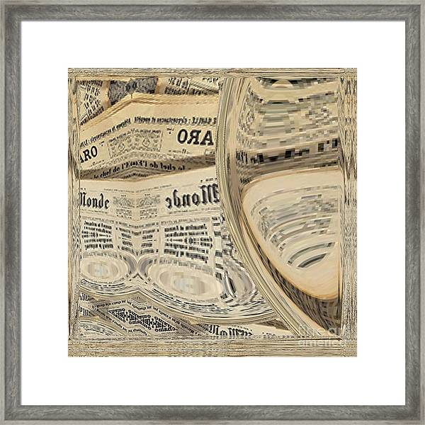 Framed Print featuring the mixed media Media by A zakaria Mami