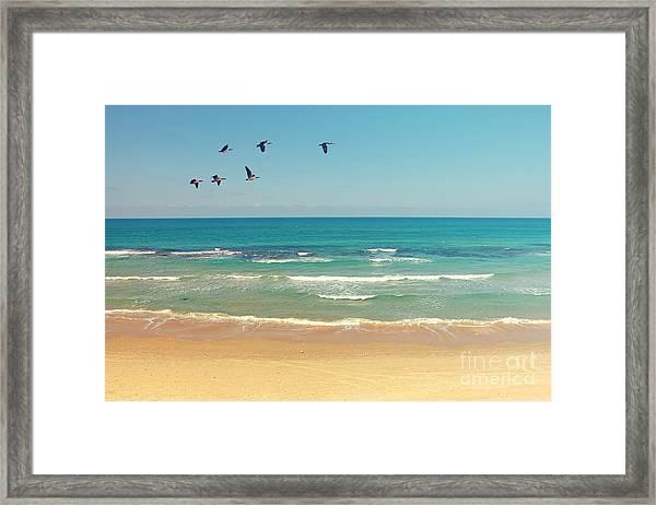 Mediterranean Sea And Sand Beach Framed Print