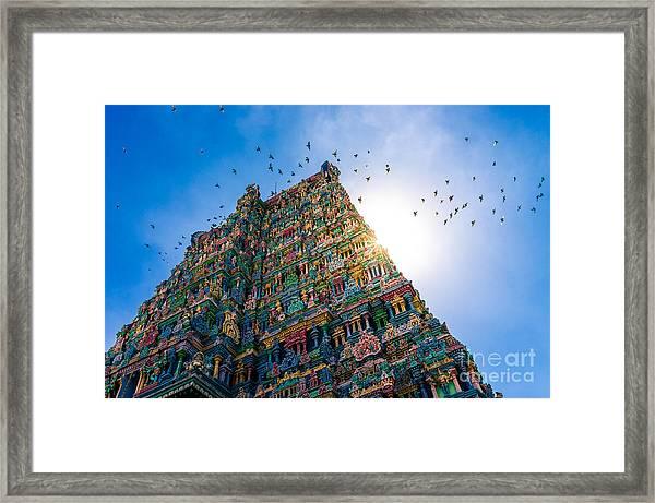 Meenakshi Hindu Temple In Madurai Framed Print