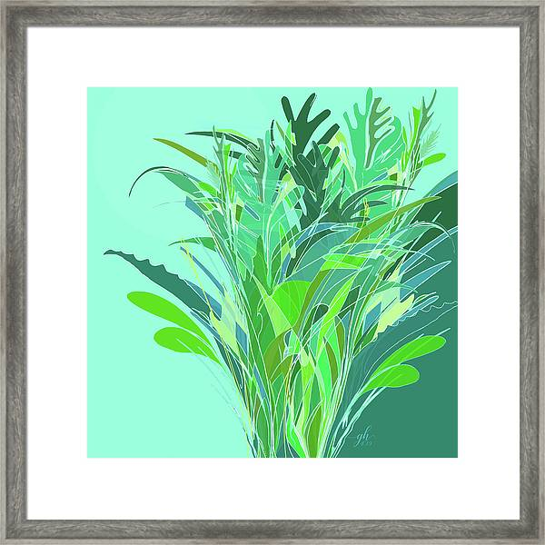 Framed Print featuring the digital art Melange by Gina Harrison