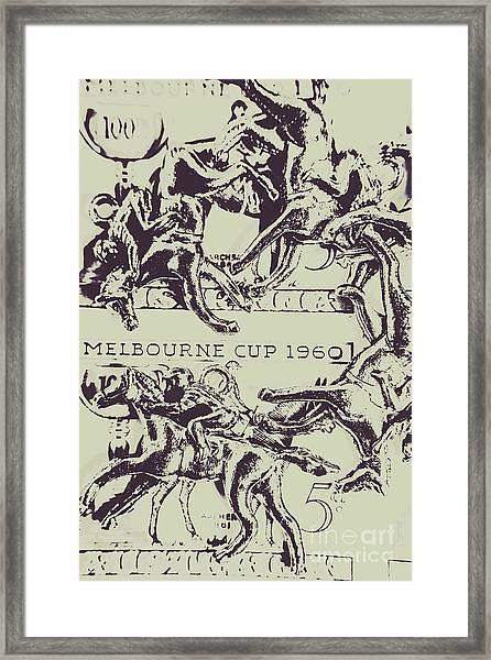 Melbourne Cup 1960 Framed Print