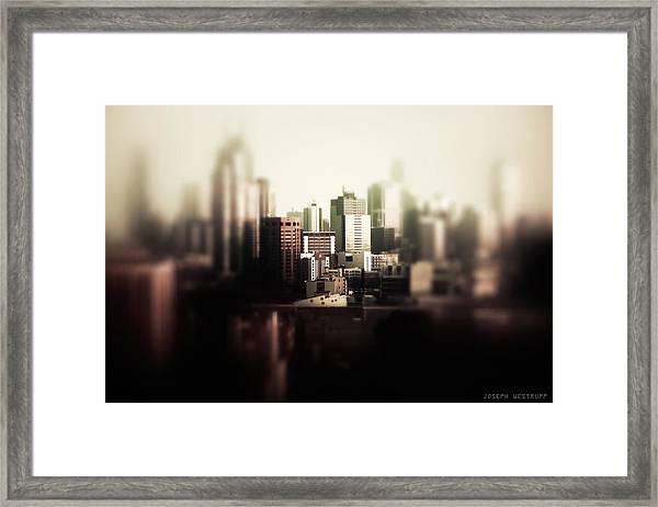 Melbourne Towers Framed Print