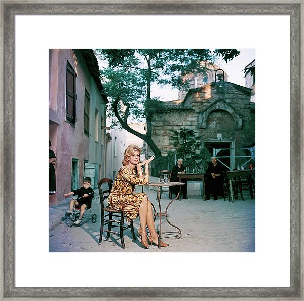 Melina Mercouri Framed Print