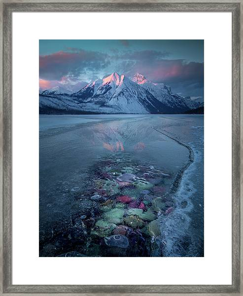 Melt, Freeze, Repeat / Late Winter / Lake Mcdonald, Glacier National Park  Framed Print