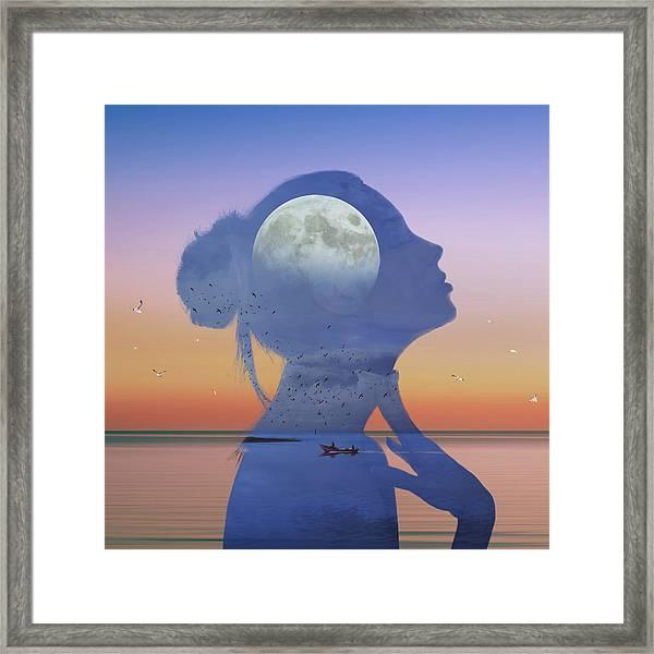 Melting Night Framed Print