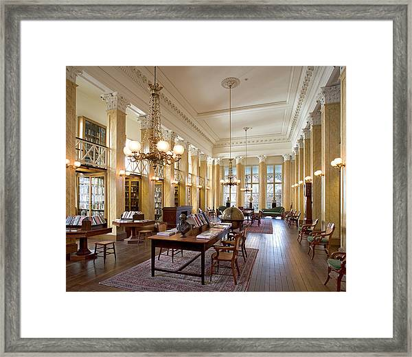 Members' Reading Room Framed Print