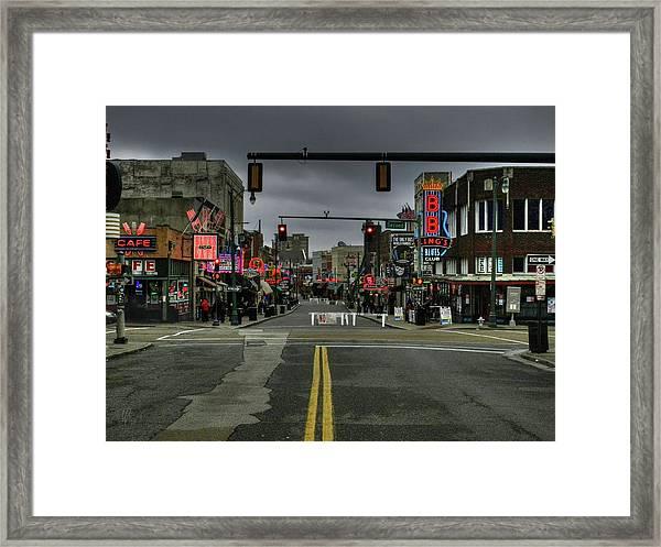Memphis - Beale Street 001 Framed Print
