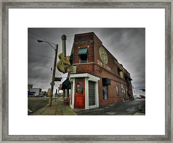 Framed Print featuring the photograph Memphis - Sun Studio 004 by Lance Vaughn