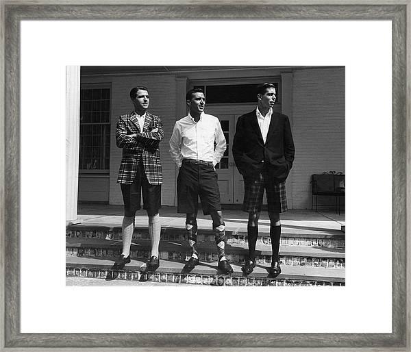 Men In Bermuda Shorts Framed Print