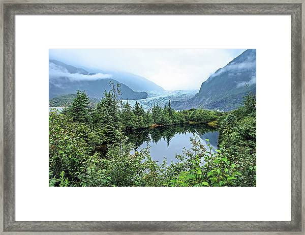 Framed Print featuring the photograph Mendenhall Glacier 1 by Dawn Richards
