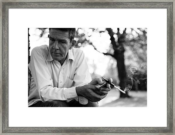 Merce Cunningham In Pontault Combault Framed Print