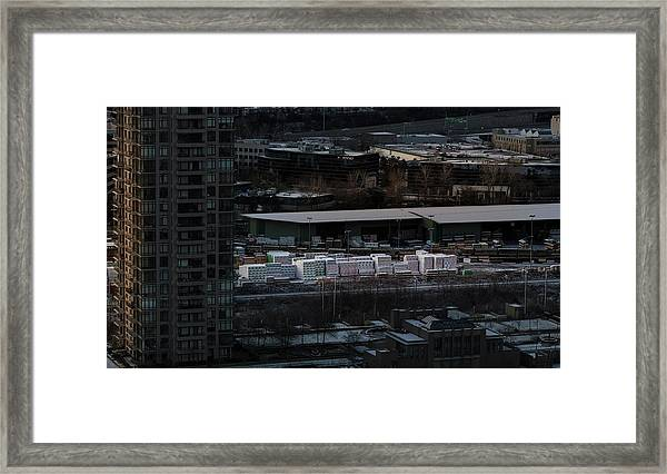 Framed Print featuring the photograph Merchandise Beside A Railroad Track  by Juan Contreras