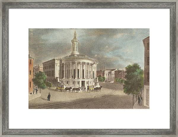 Merchants Exchange, 1838 Framed Print