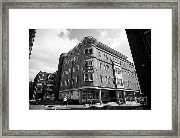 Merchants House Commercial Office Building Chester Cheshire England Uk Framed Print by Joe Fox
