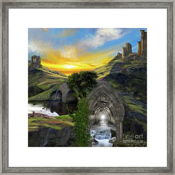 Merlins Cave Framed Print