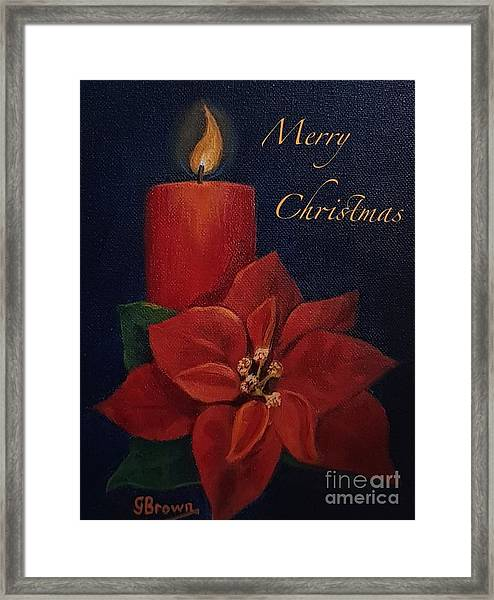 Framed Print featuring the painting Merry Christmas by Genevieve Brown