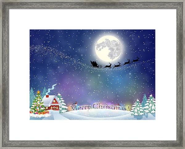 Meryy Christmas And Happy New Year Framed Print