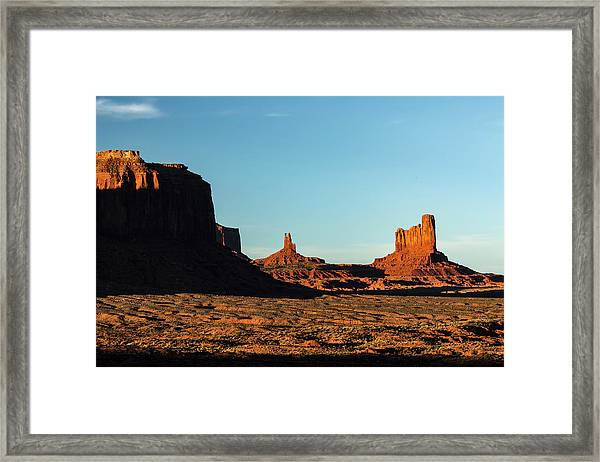 Mesa At Sunset, Monument Valley Tribal Framed Print by Adam Jones