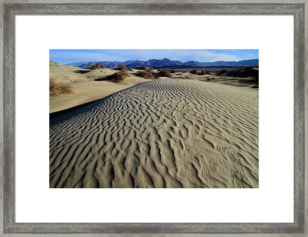 Mesquite Flat Sand Dunes Grapevine Mountains Framed Print