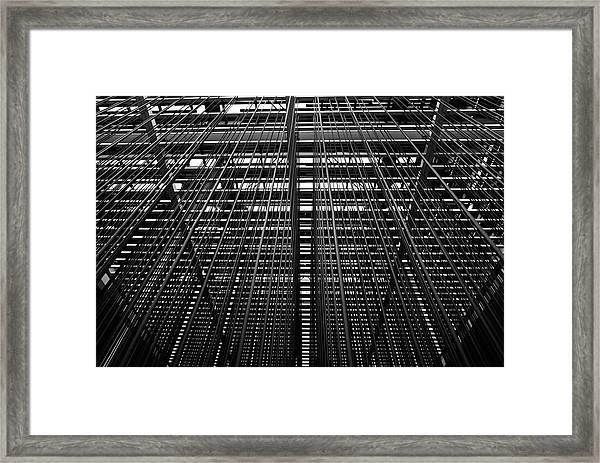Metal Lines Framed Print