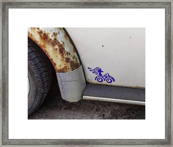 Metal Moth Framed Print