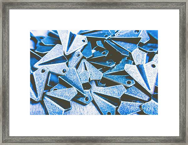 Metallic Airfield Framed Print