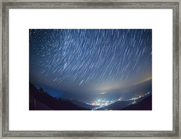 Meteor Framed Print by Tdubphoto