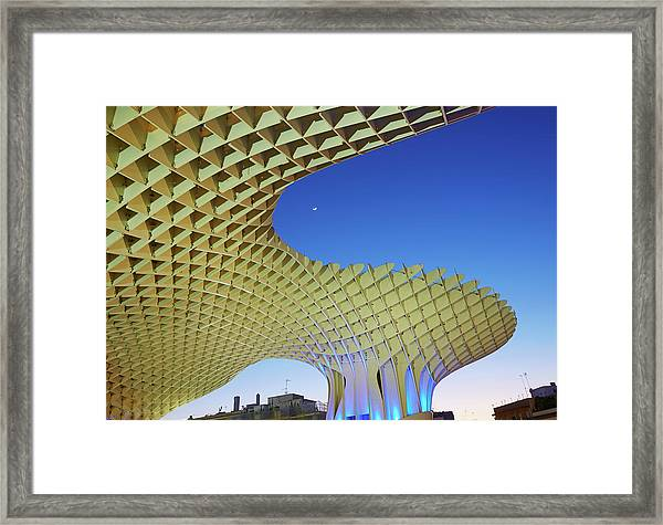 Metropol Parasol In Seville Framed Print