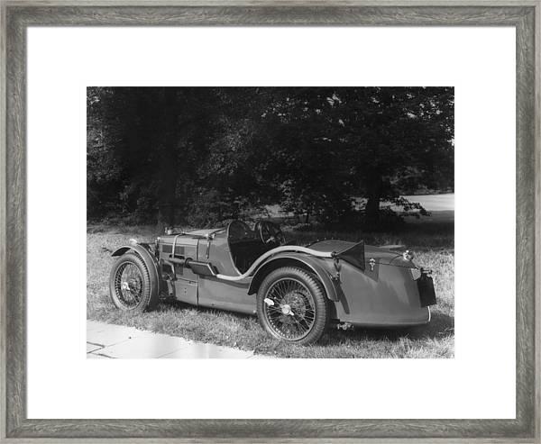 Mg Sports Car Framed Print by Sasha