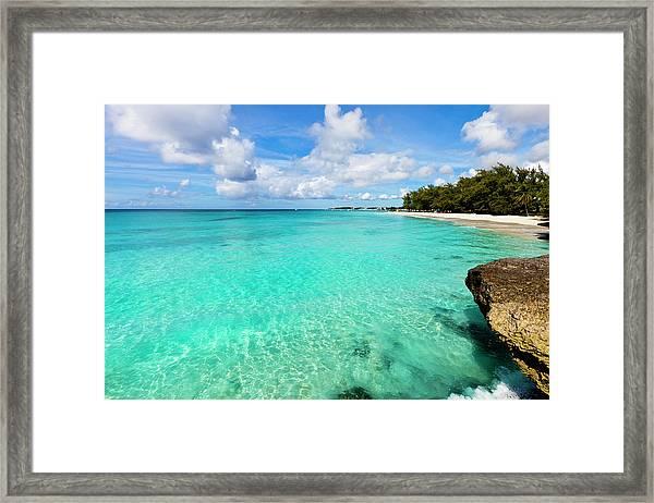Miami Beach, Barbados Framed Print