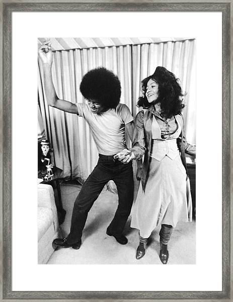 Michael Jackson Dances With His Framed Print