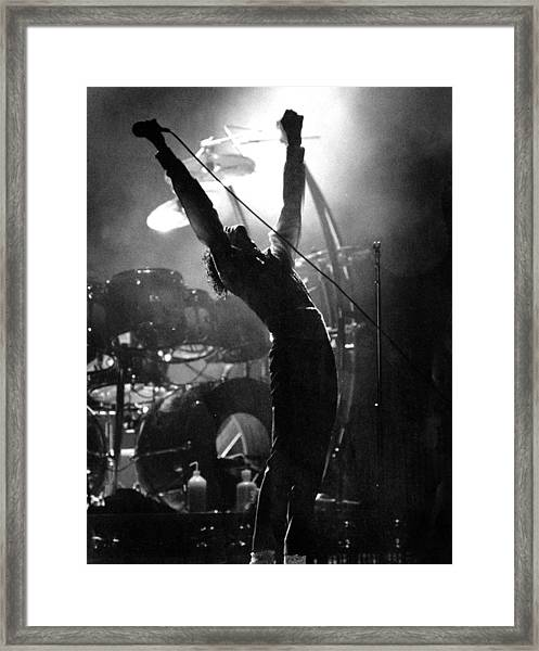 Michael Jackson Lets It All Hang Out Framed Print by New York Daily News Archive