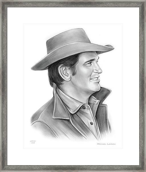 Michael Landon Framed Print