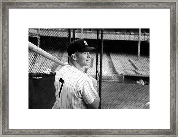Mickey Mantle Framed Print