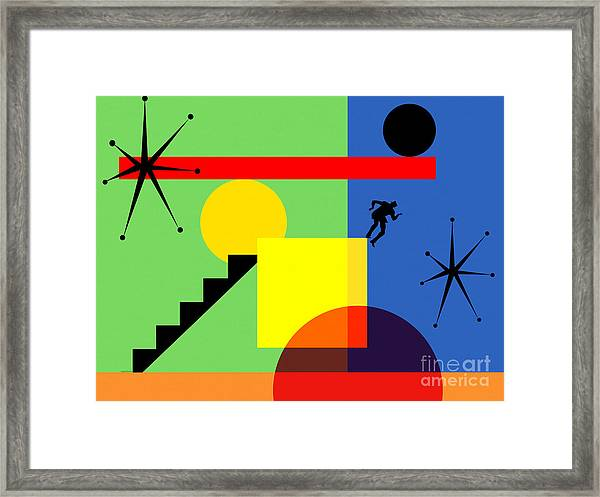 Mid Century Modern Abstract Over The Edge 20190106 Horizontal Framed Print