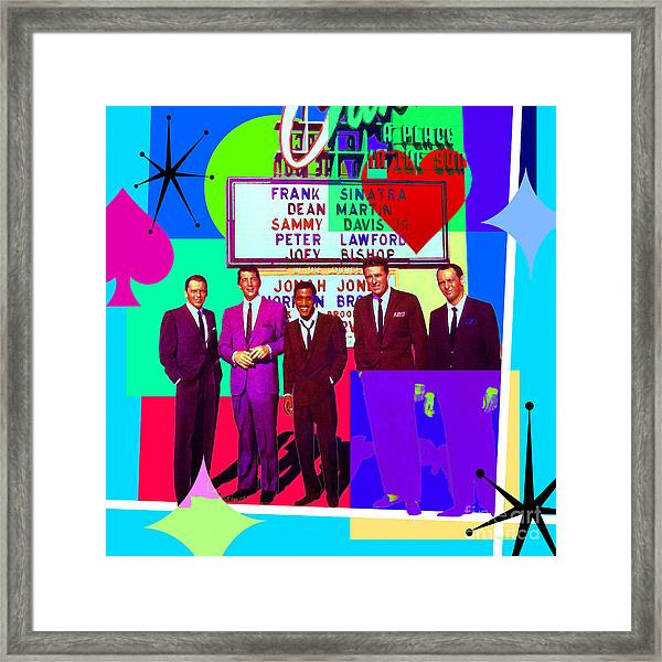 Mid Century Modern Abstract The Rat Pack Frank Sinatra Dean Martin Sammy Davis Jr 20190120 Sq P160 Framed Print