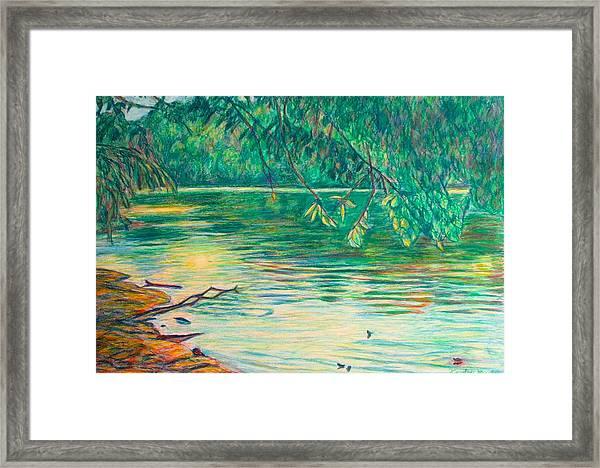 Mid-spring On The New River Framed Print