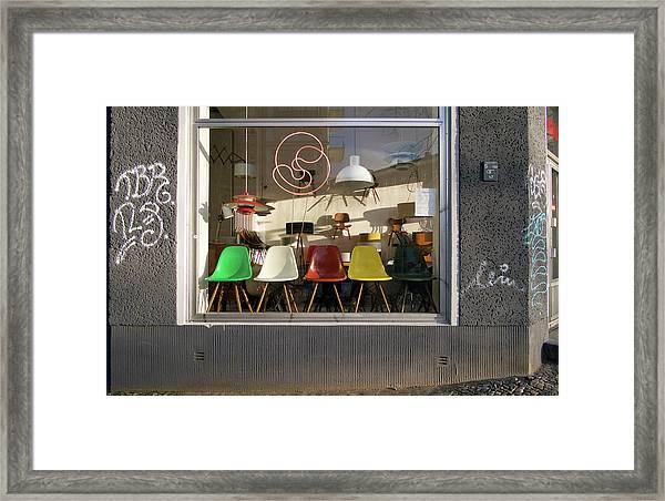Midcentury Modern Storefront Framed Print