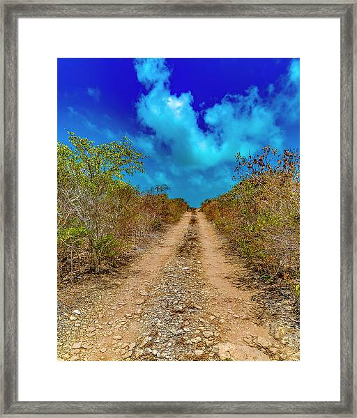 Middle Caicos Rocky Road Framed Print