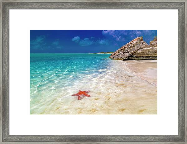 Middle Caicos Tranquility Awaits Framed Print