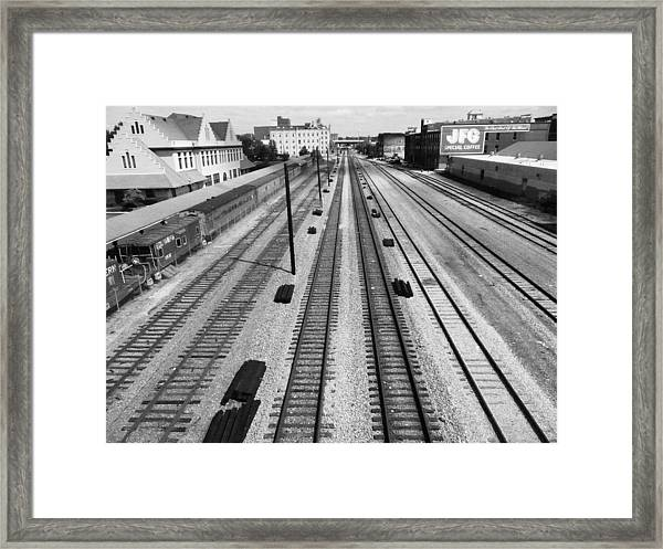 Middle Of The Tracks Framed Print