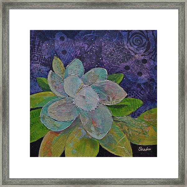 Midnight Magnolia I Framed Print