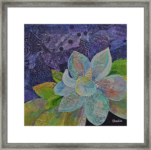 Midnight Magnolia II Framed Print