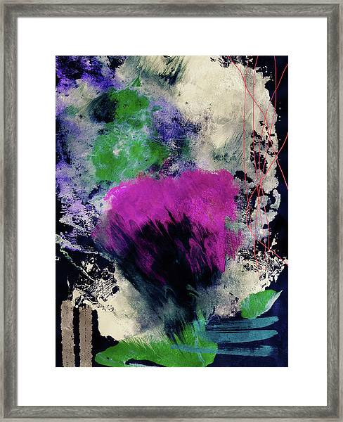 Midnight Rhapsody- Art By Linda Woods Framed Print