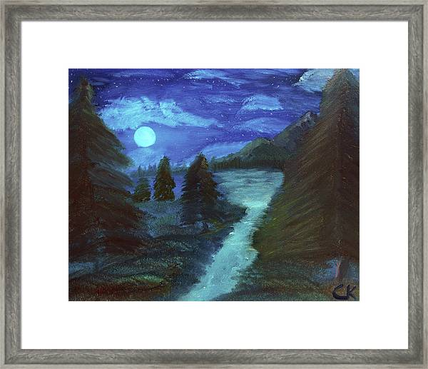 Midnight River Framed Print